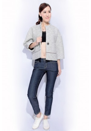 3-quarter sleeve short jacket