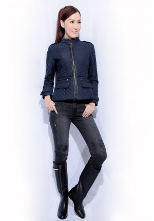 padded quilted zip jacket